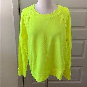 Neon yellow sweatshirt